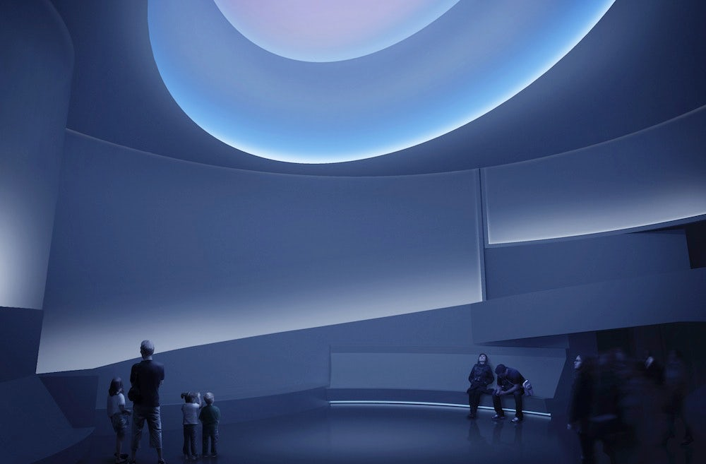 James Turrell, Aten Reign, 2013. Daylight and LED light. Temporary site-specific installation, Solomon R. Guggenheim Museum, New York © James Turrell | Photo: David Heald © SRGF