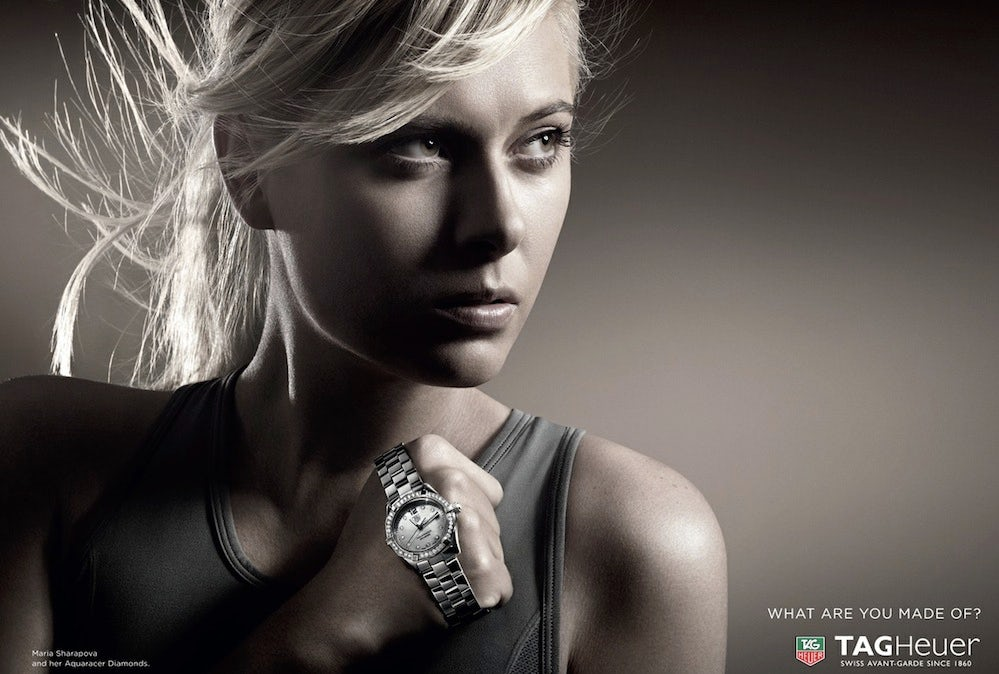 Tag Heuer campaign feat. Maria Sharapova 2013 | Source: Tag Heuer
