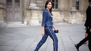 Caroline Sieber in Louis Vuitton pajamas   Source: Phil Oh/Streetpeeper