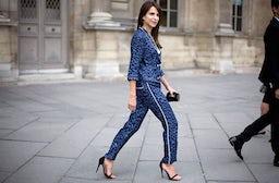 Caroline Sieber in Louis Vuitton pajamas | Source: Phil Oh/Streetpeeper