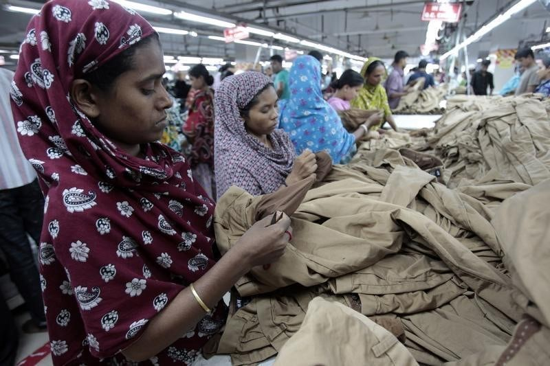 Inside a Bangladeshi garment factory | Source: Reuters