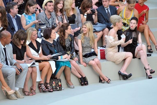 Cathy Horyn and Suzy Menkes sitting front row | Source: theluxechronicles.com