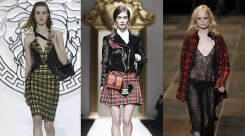 3c0a7ce3446 Left to right  looks from the Fall Winter 2013 Versace