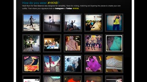 User-generated imagery on the Heidi Klum for New Balance landing page   Source: Olapic