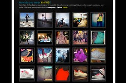 User-generated imagery on the Heidi Klum for New Balance landing page | Source: Olapic