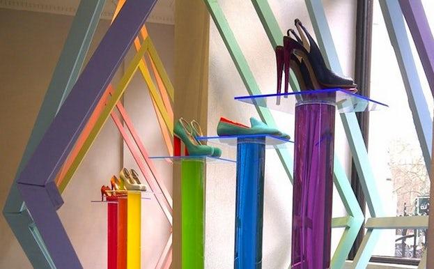 Window display for Nicholas Kirkwood SS12 | Source: Dazed Digital