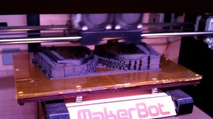 Asher Levine sunglasses being produced by a 3D printer | Source: Makerbot