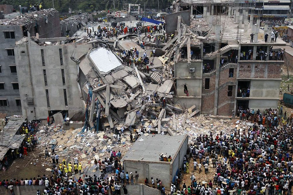 Rana Plaza collapse in Dhaka, Bangladesh | Source: Flickr