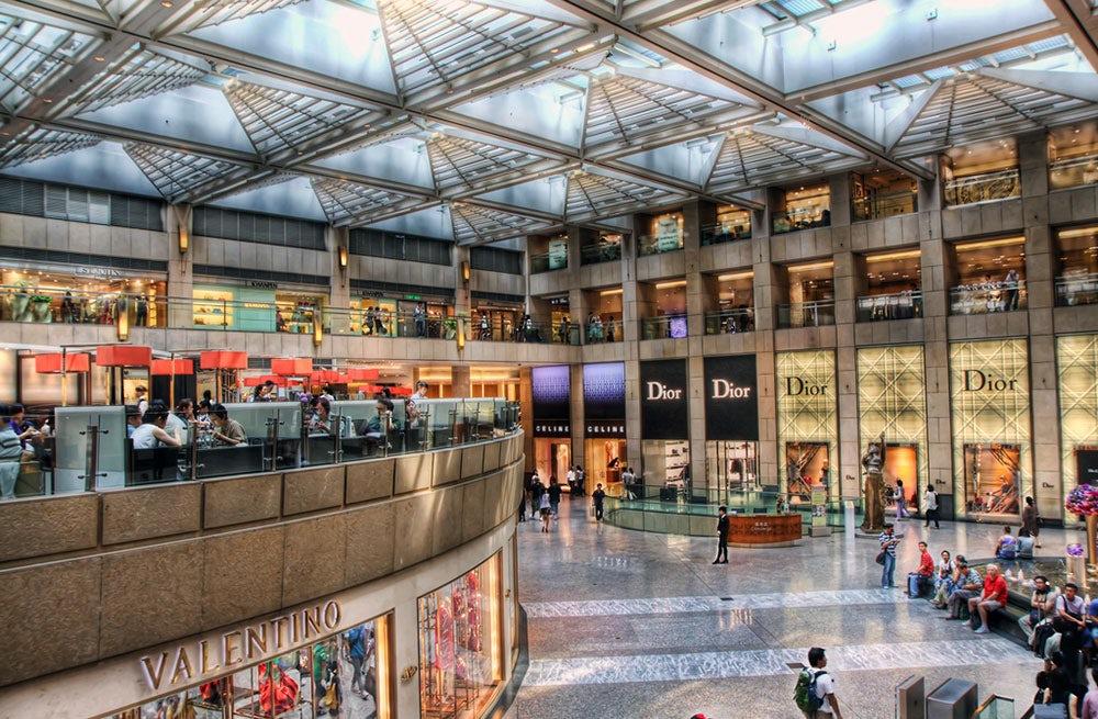 The Landmark luxury mall in Hong Kong   Source: Flickr