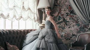"Sophie Malgat in Dior Haute Couture dress | Source: ""Dior Glamour: Mark Shaw"" (Rizzoli)"