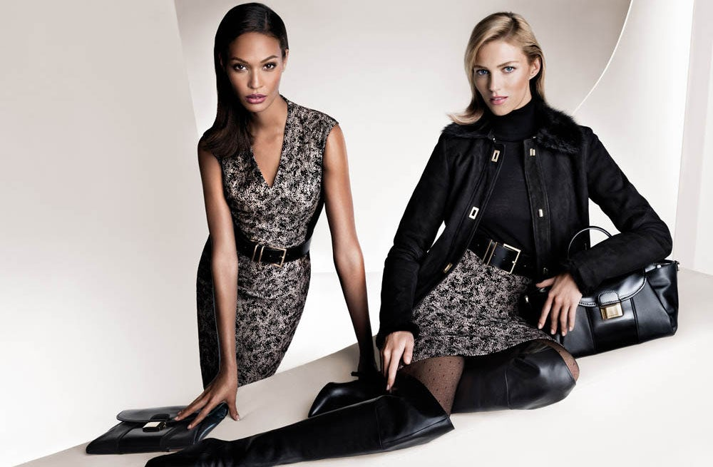 Joan Smalls and Anja Rubik for Hugo Boss Autumn/Winter 2013/4 | Source: Hugo Boss