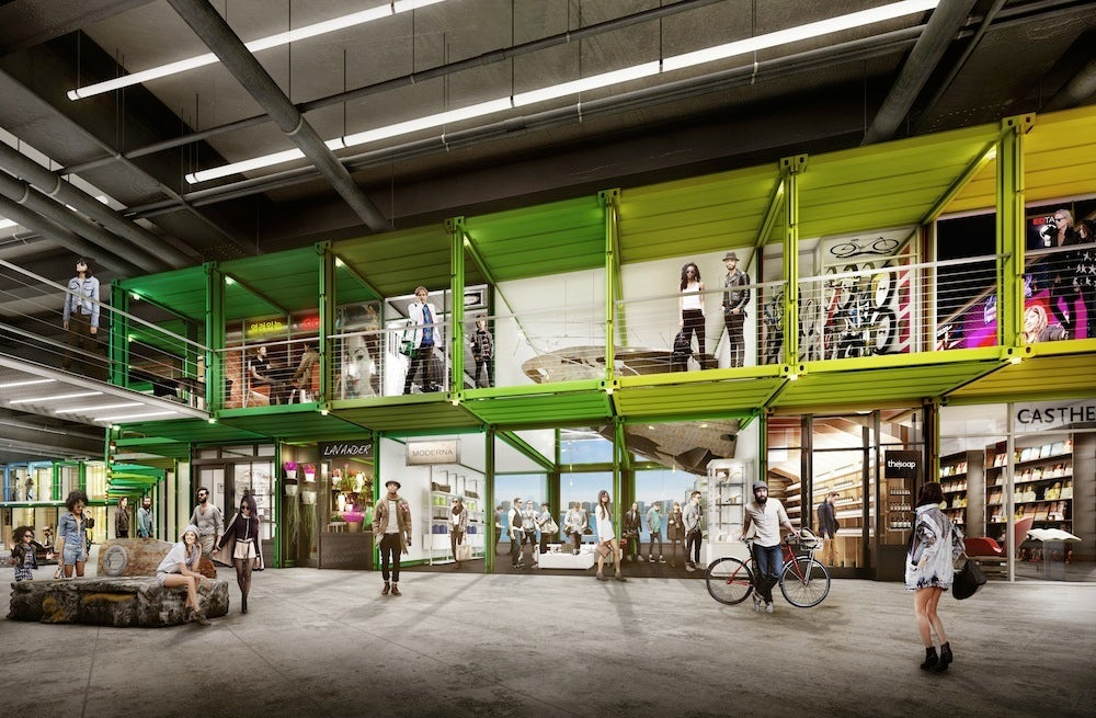 A rendering of the planned Incubox Marketplace at SuperPier   Source: Courtesy