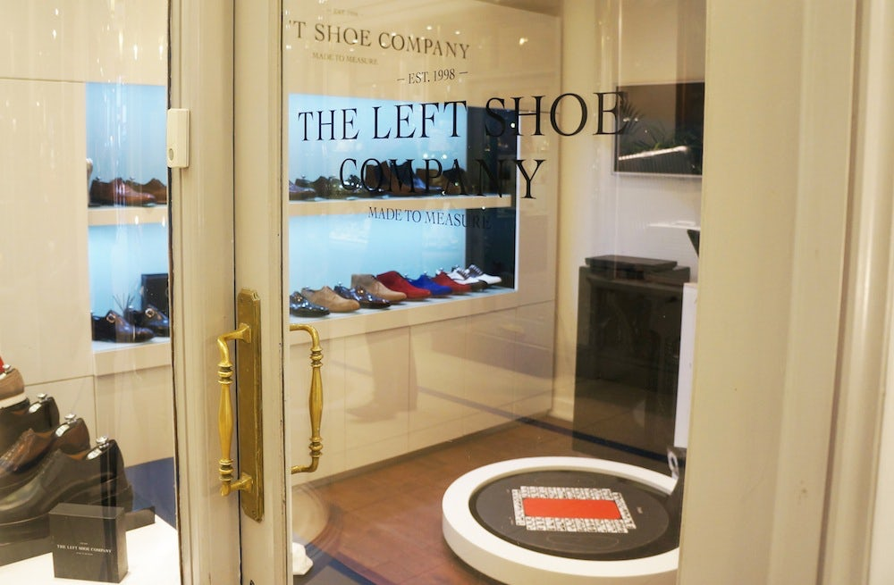 The Left Shoe Company in London's Princes Arcade | Source: The Left Shoe Company