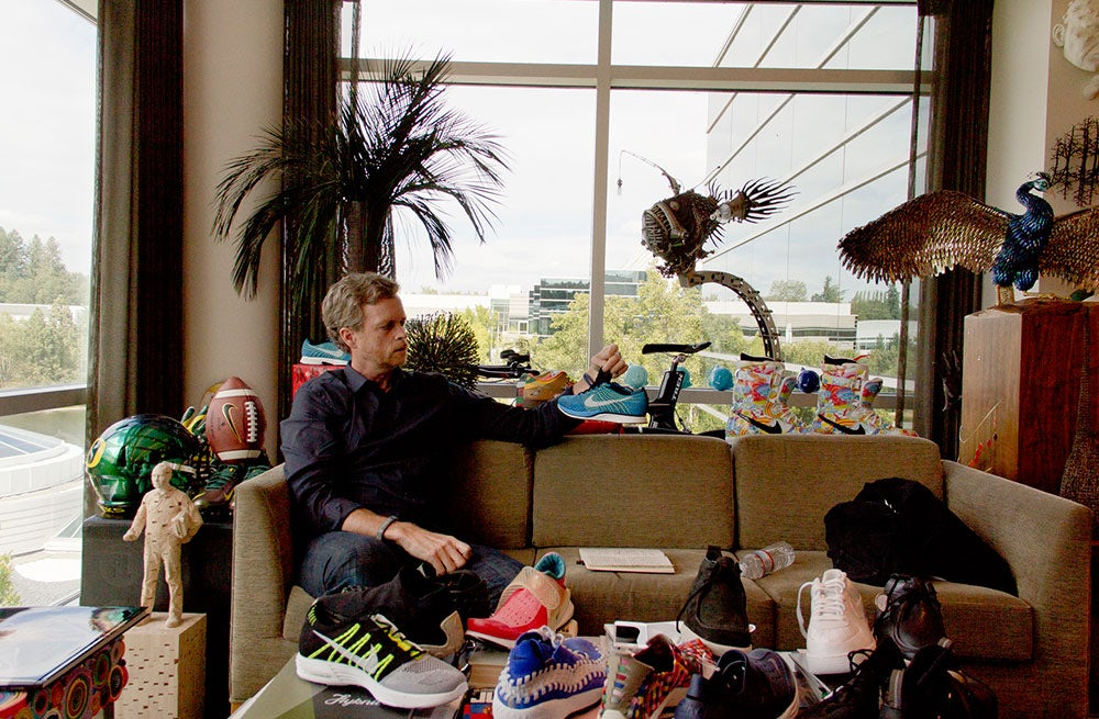 Nike chief executive Mark Parker in his office | Photo: Jonathan Olivares for 032c
