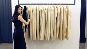 Fashion archivist Julie Ann Orsini at work in Jason Wu's studio | Source: Courtesy