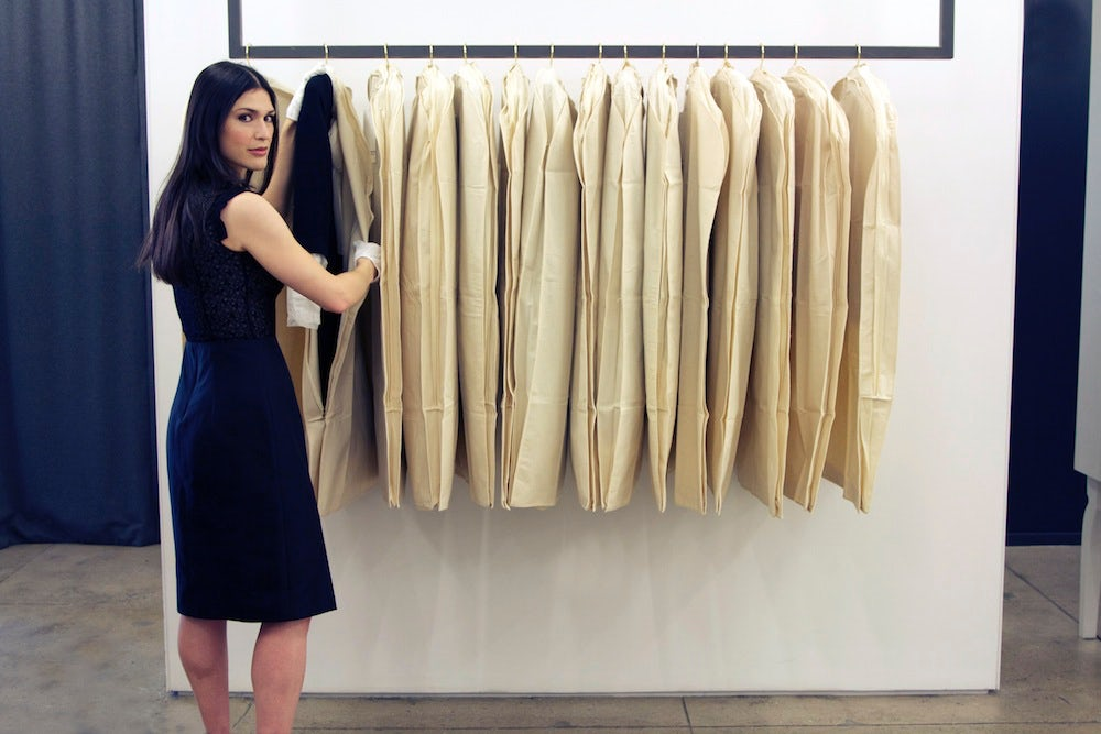 Fashion archivist Julie Ann Orsini at work in Jason Wu's studio | Source: Courtesy