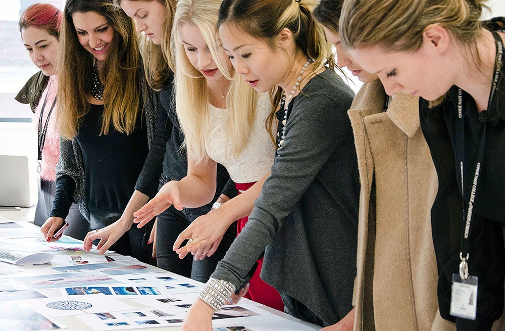 Students in a fashion forecasting class at The Condé Nast College | Source: Condé Nast