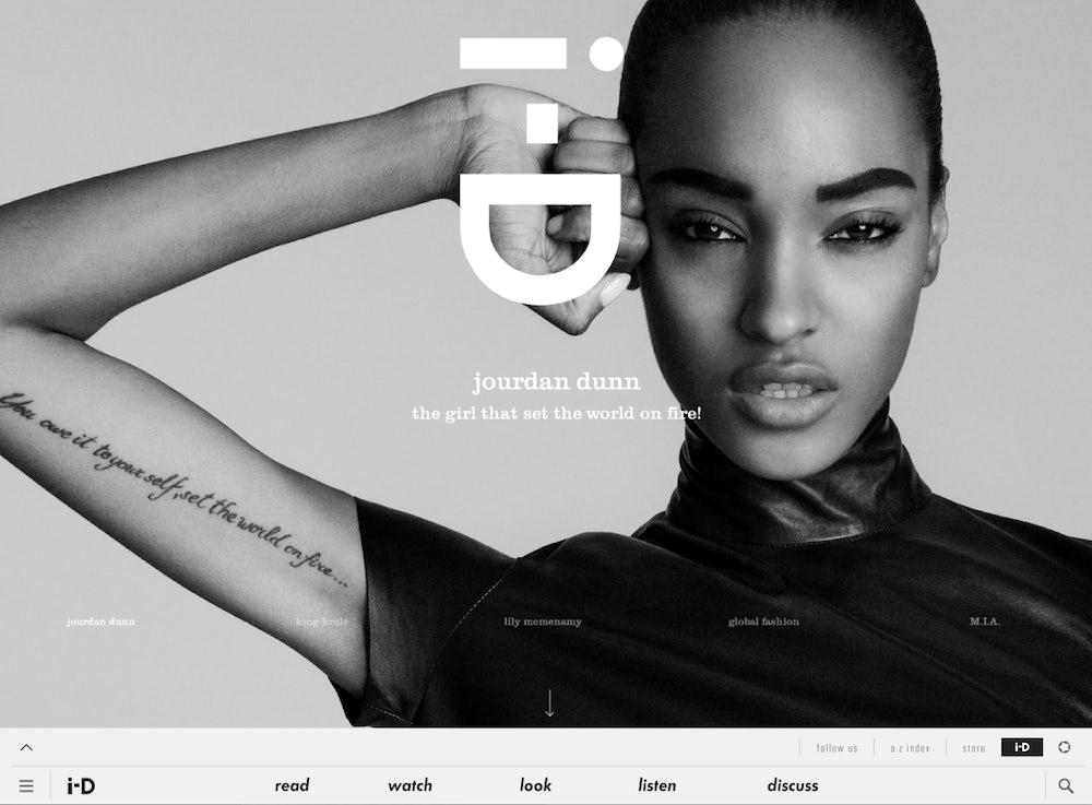 i-D homepage | Source: i-D