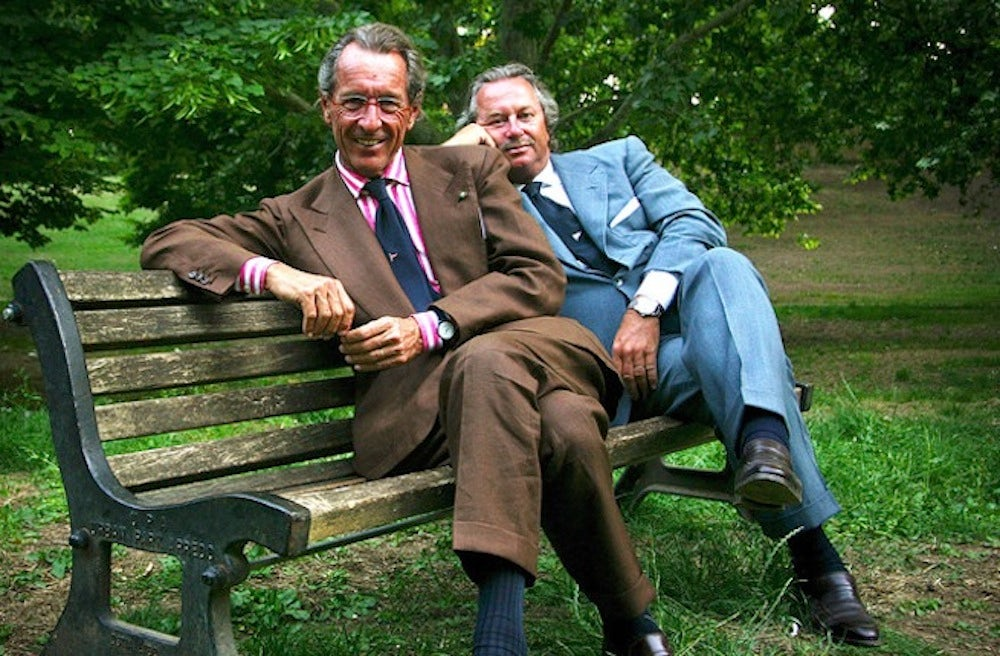 The late Sergio Loro Piana (front left), with his brother Pier Luigi Loro Piana | Source: Courtesy photo
