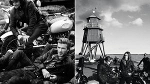 L: Belstaff campaign featuring David Beckham by Peter Lindbergh; R: Barbour International campaign by Julian Broad and Sean Cook