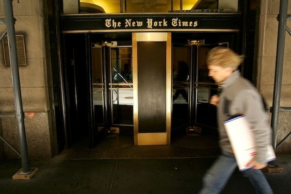 New York Times Building, New York | Source: Fashionista