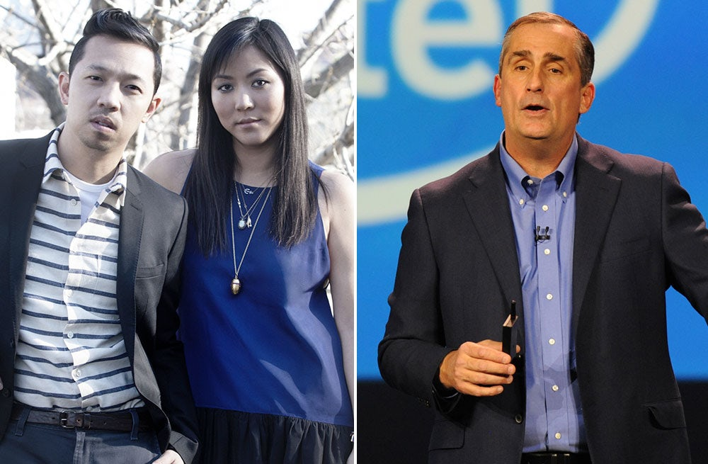 L: Carol Lim and Humberto Leon, co-founders of Opening Ceremony; R: Brian Krzanich, chief executive of Intel | Source: Courtesy