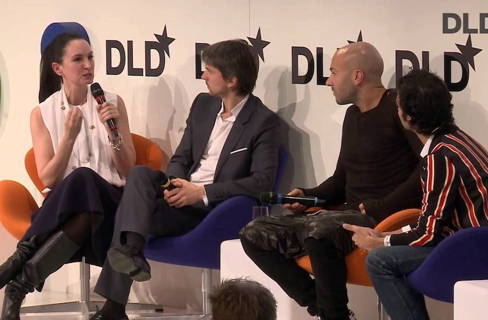 Paula Reed, Ulric Jerome, Chris Kyvetos and Imran Amed at DLD 2014 | Source: DLD