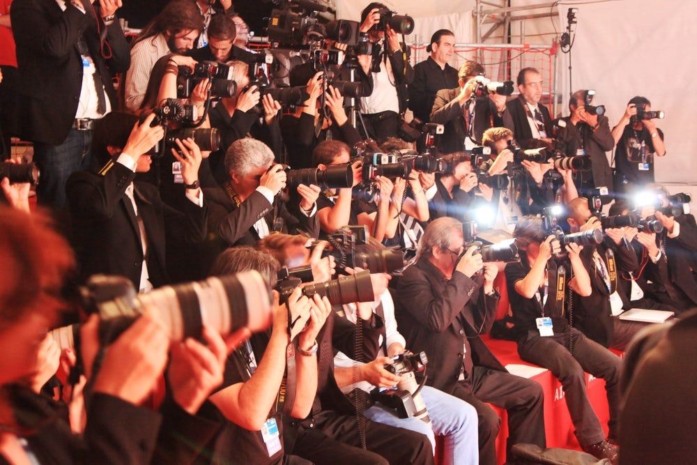 Photographers at work on the Red Carpet   Source: Shutterstock