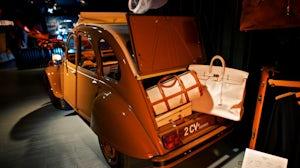 Birkin bag and Citroen 2CV at Hermès exhibition in Shanghai   Source: Flickr