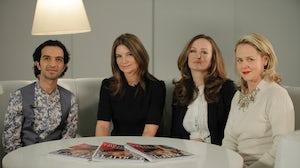 L-R: Imran Amed, Natalie Massenet, Lucy Yeomans, Tess Macleod Smith