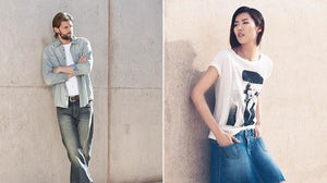 RJ Rogenski and Liu Wen for Esprit Spring 2014 denim campaign | Source: Esprit