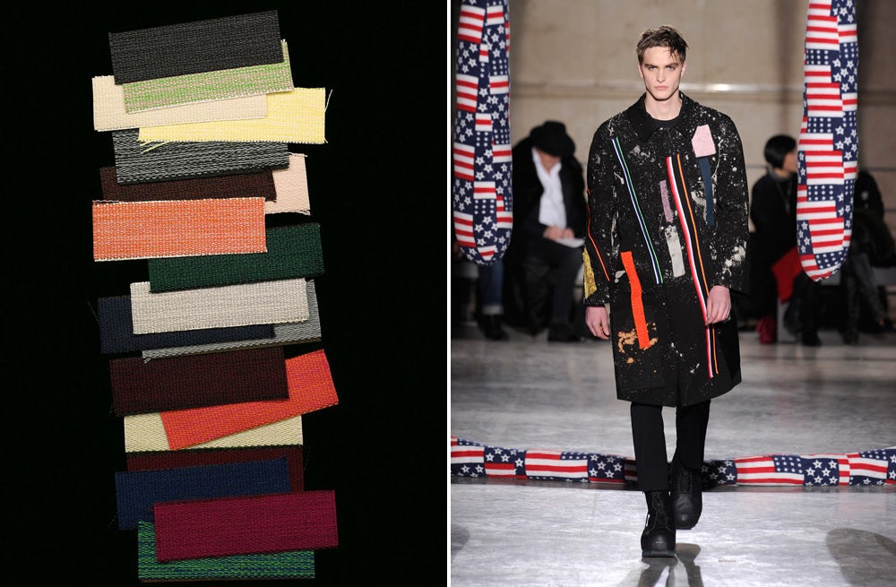L: Fabric swatches from the Kvadrat / Raf Simons collection; R: Raf Simons/Sterling Ruby | Source: Courtesy Raf Simons