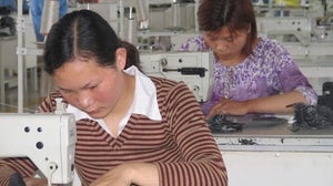 Women in a garment factory in China | Source: Shutterstock