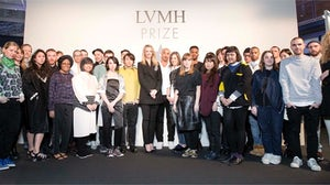 Semi-finalist designers for the LVMH Prize with Delphine Arnault | Source: Courtesy