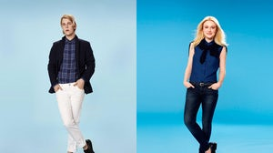Tom Odell and Dakota Fanning for Uniqlo | Source: Uniqlo