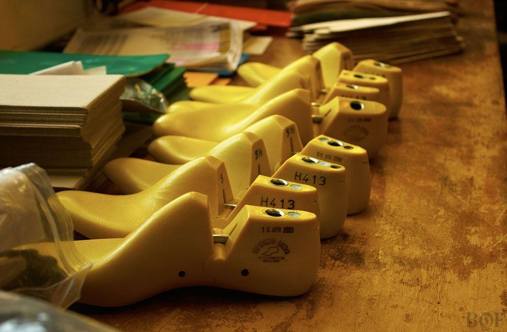 Shoe lasts | Photo: Duane Nasis for BoF
