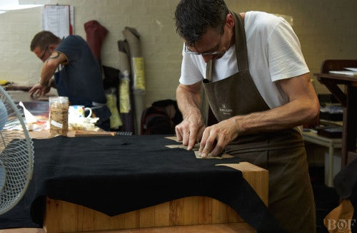 A John Lobb craftsman | Photo: Duane Nasis for BoF