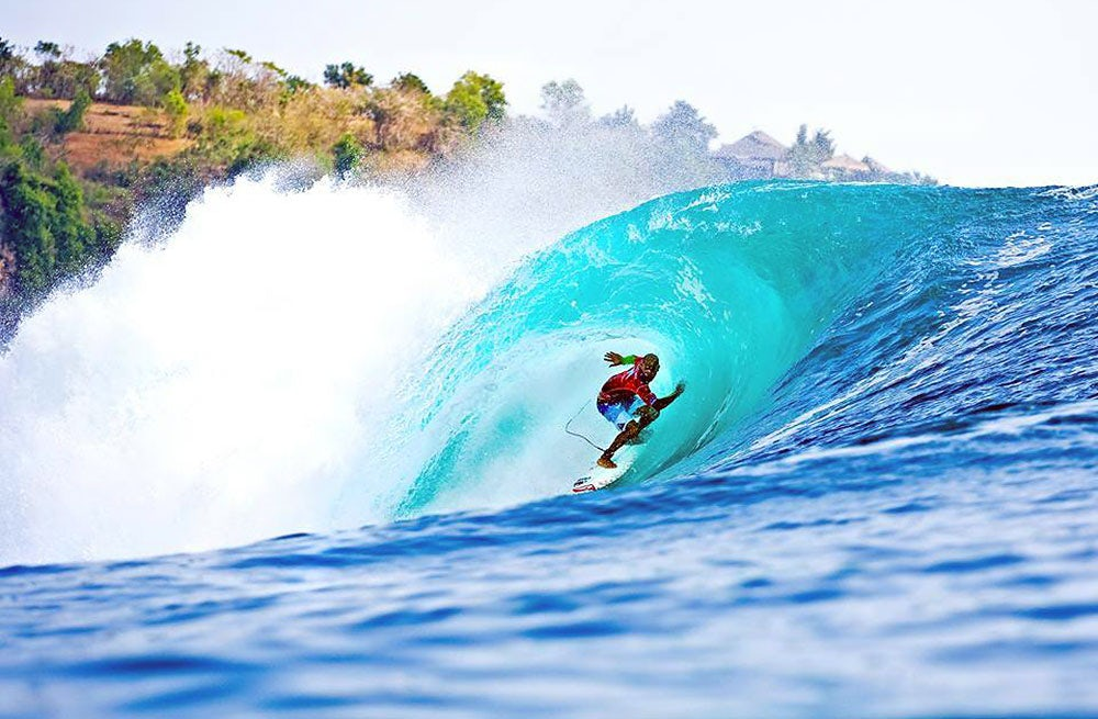 Kelly Slater at the 2008 ASP World Tour in Bali | Source: ASP World Tour Surfing