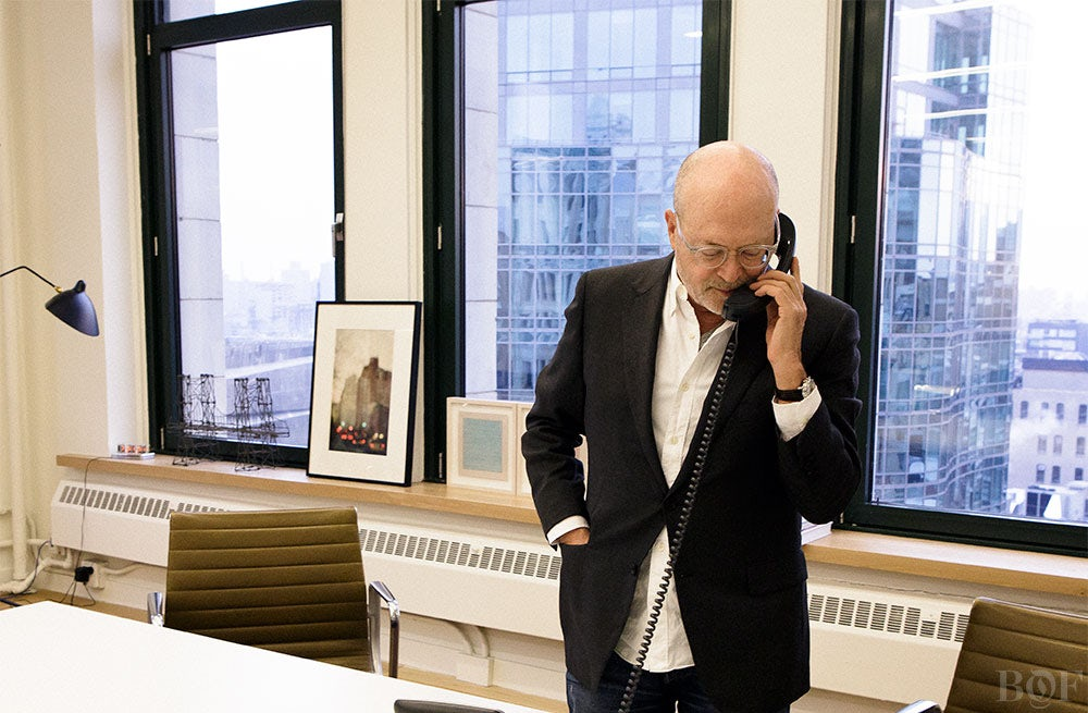 Mickey Drexler in his office | Photo: Ethan Scott for BoF