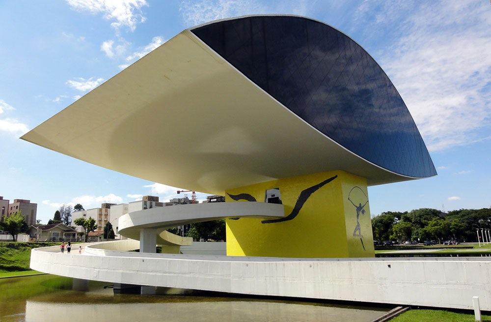 Museu Oscar Niemeyer in Curitiba, capital of Paraná state   Source: Flickr