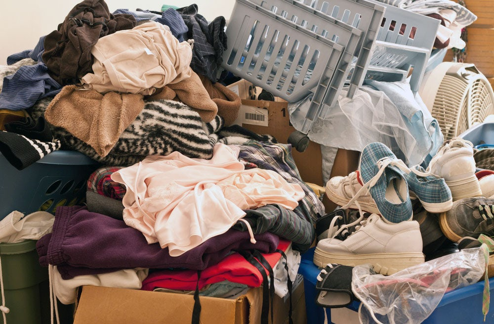 Piles of clothing | Source: Shutterstock