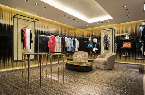Fur room in Fendi boutique, London   Source: Courtesy