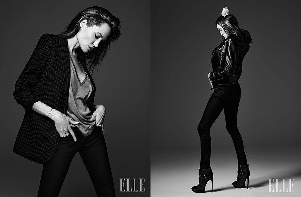 Angelina Jolie in Elle (US) June 2014   Photo: Hedi Slimane for Elle