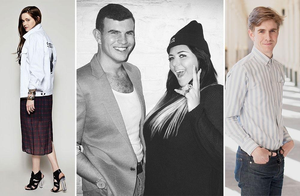 (L) Sydney Reising, Ashley Smith and Ella Dror, David Giroire | Source: Steve Madden, Rai Royal, Noel Manalili