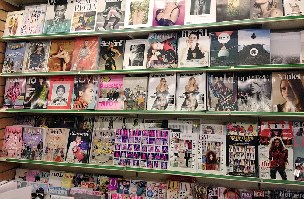 Fashion magazines on newsstand | Photo: BoF