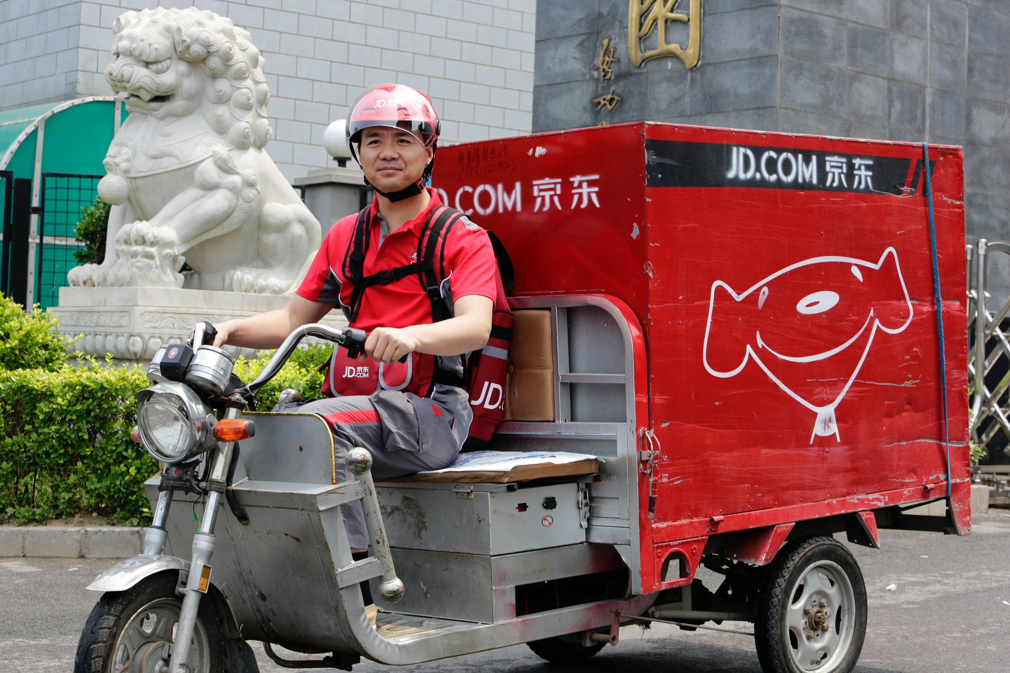 JD.com delivery | Source: Reuters
