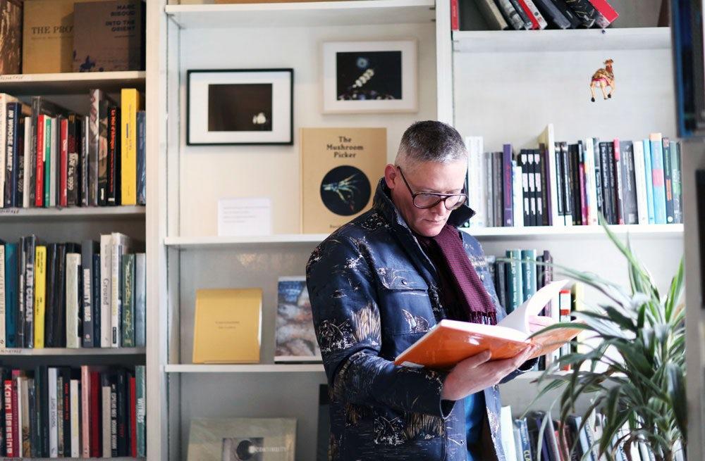 Giles Deacon at Claire de Rouen Books | Photo: Jane Stockdale for Riposte magazine