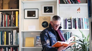Giles Deacon at Claire de Rouen Books | Photo: Jane Stockdale for Riposte magazine