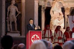 Italian prime minister Matteo Renzi at the opening of Pitti Uomo | Photo: Flickr/PalazzoChigi