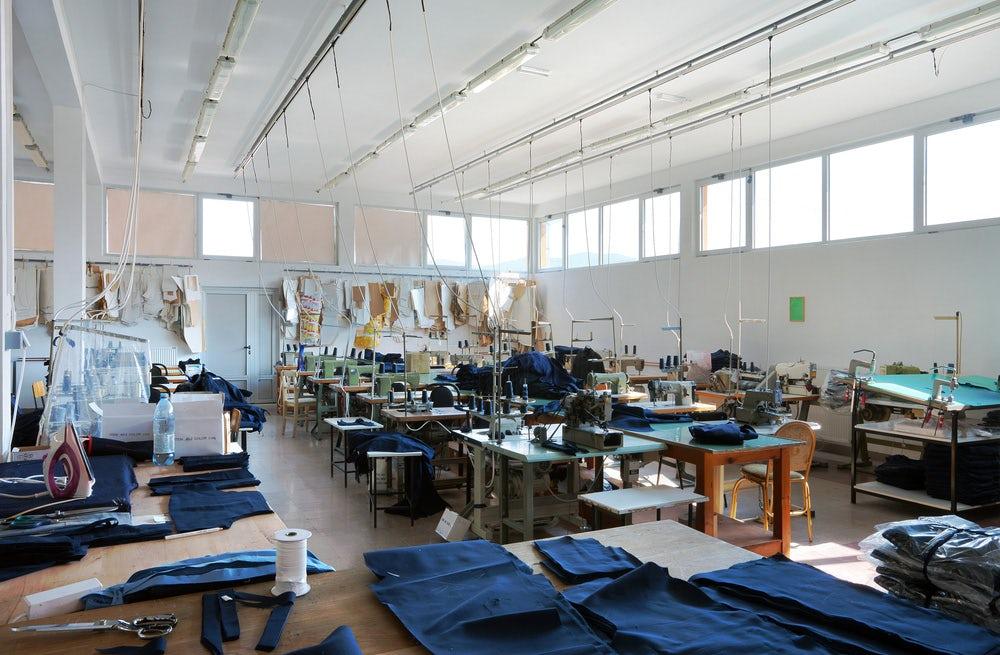 Inside a sewing factory | Source: Shutterstock